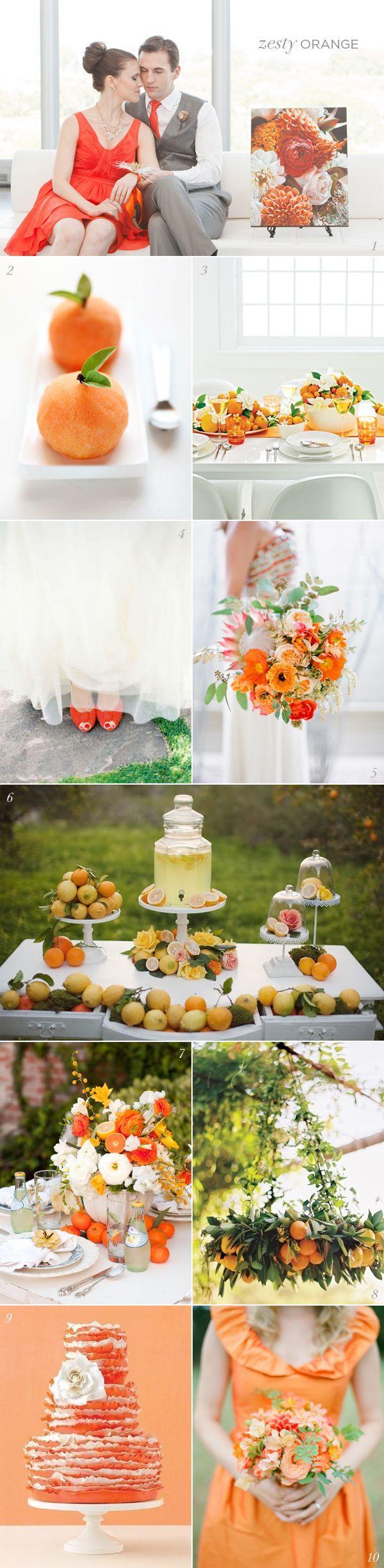 Wedding - Orange Wedding Details & Decor