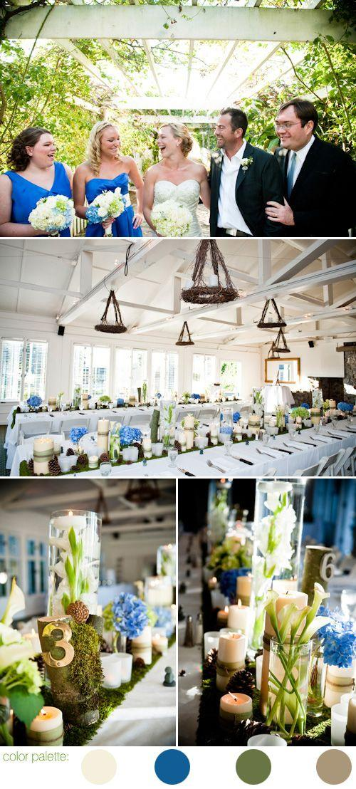 Wedding - Blue Wedding Details & Decor