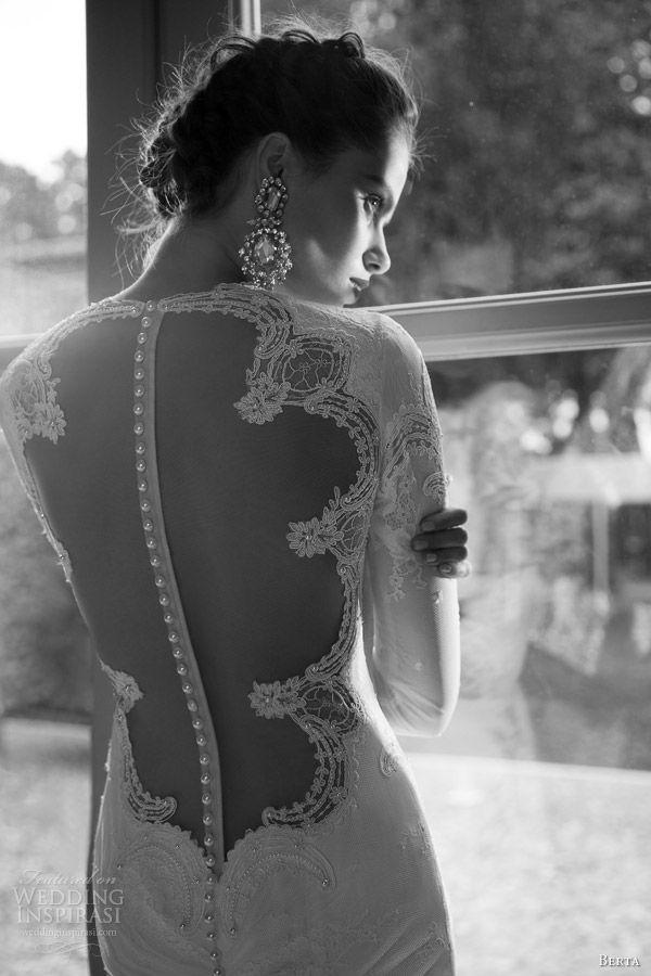 Boda - Transparent low back white wedding dress