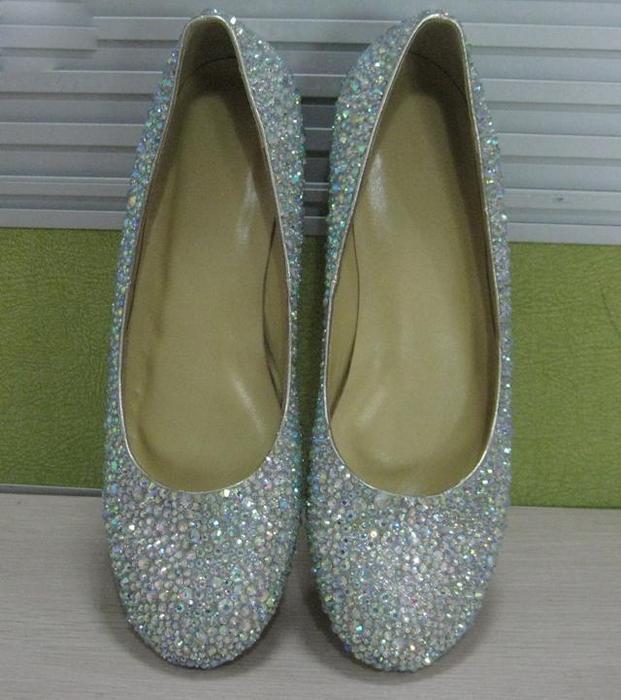 Свадьба - AB crystal ballet flats