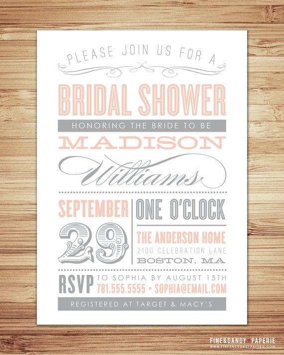 invitations pretty paper bridal shower invitations for a vintage ...