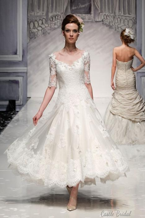 V Neck Wedding Dresses With Sleeves : Wedding dresses lace v neck half sleeves dress