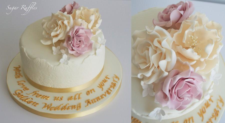 Wedding cakes golden wedding anniversary cake 2014175 weddbook