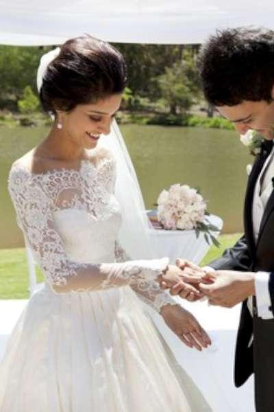 Hochzeit - Brautkleid langarm Spitze