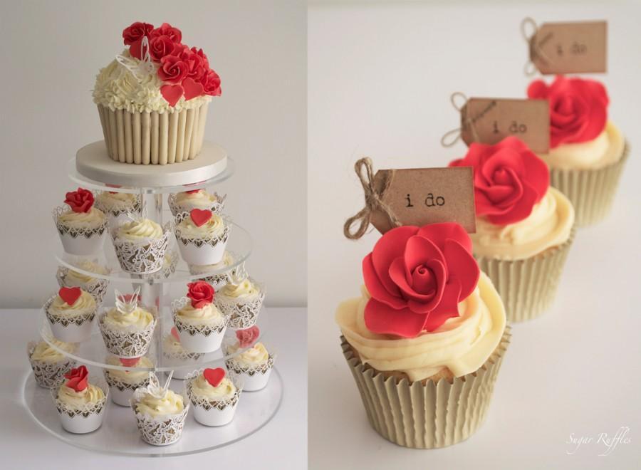 Wedding Cake Cupcake Ideas: Valentines Wedding Cupcake Tower