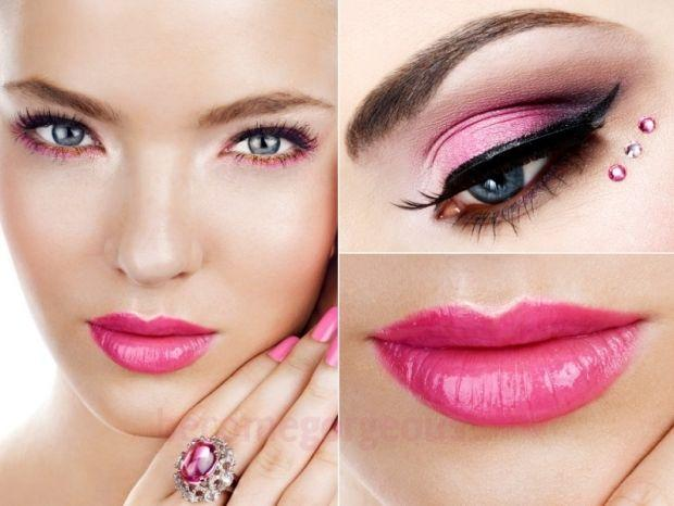 Makeup for pink dress