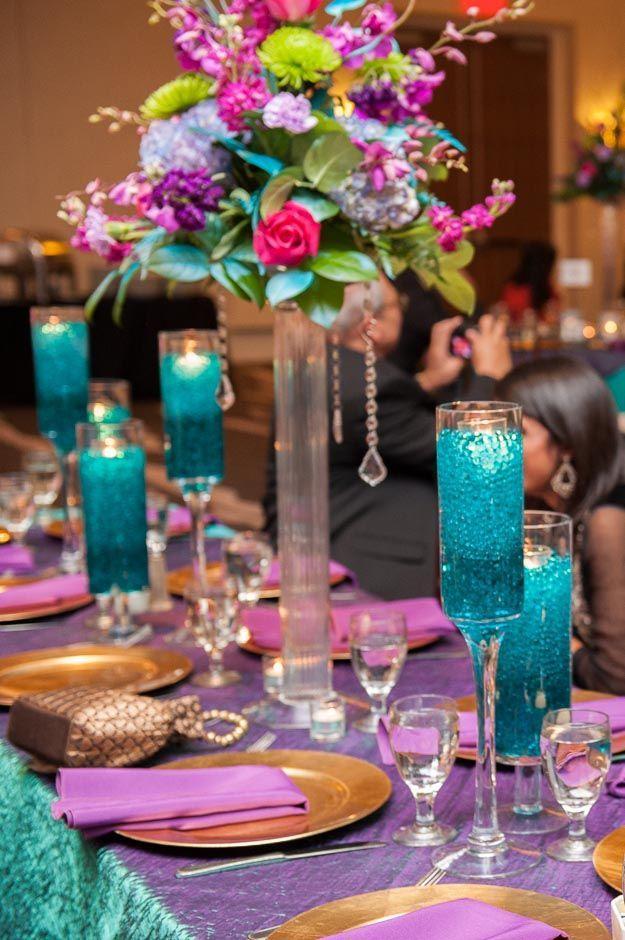 Vivid blue wedding