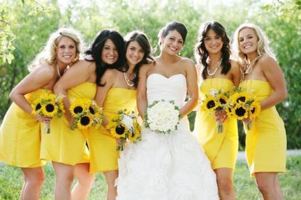 Colour Scheme Inspiration Yellow Weddings
