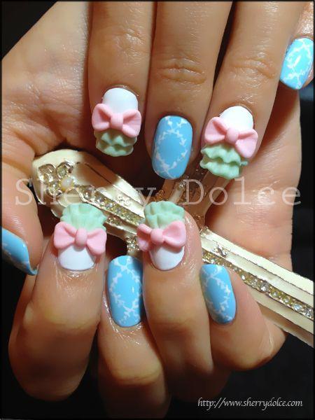 Wedding Nail Designs Ribbon 3d Nail Art 2026080 Weddbook