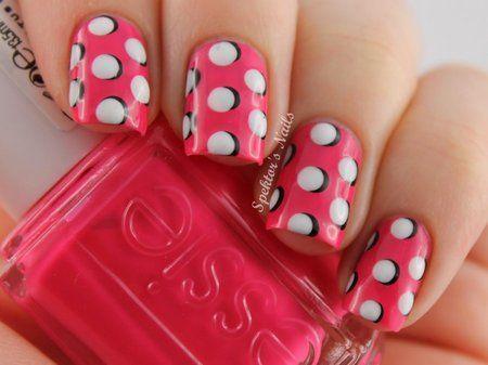Wedding Nail Designs 3d Polka Dots Nail Art Bellashoot