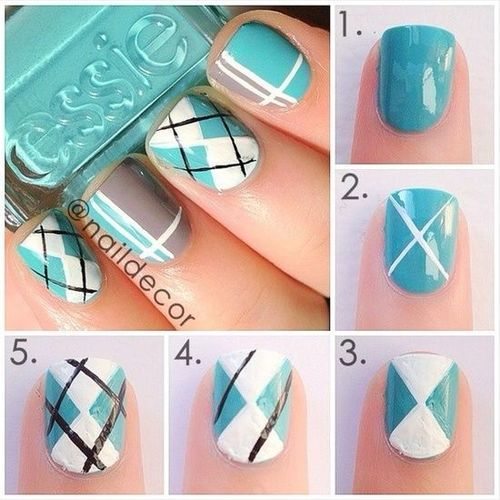 Wedding Nail Designs - Plaid Nail Art. I Have To Get This! #2027869 ...