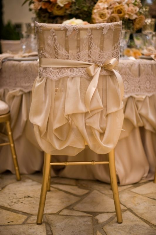Hochzeit - Lovely Delicate Lace Chair Sleeve