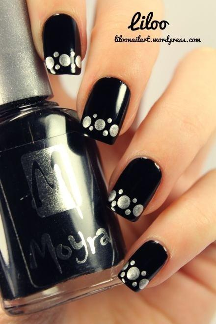 زفاف - Silver Polka Dots On Black. Very Sleek!