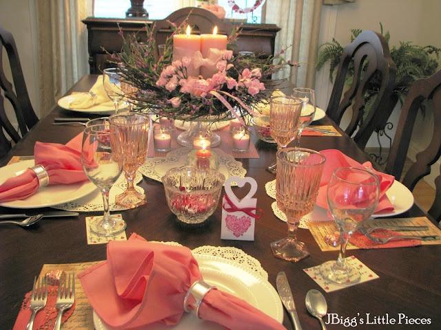 Свадьба - Valentine Tablescape
