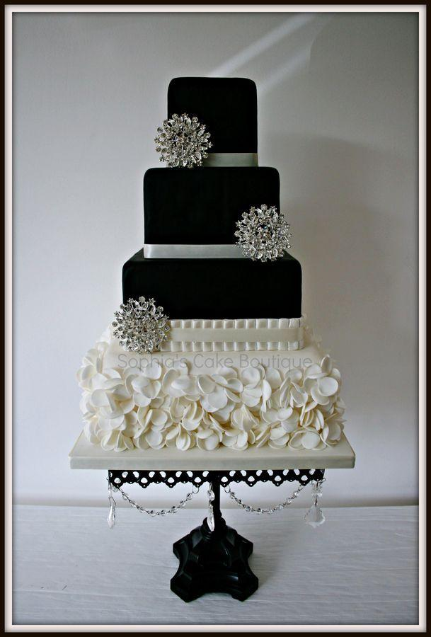 Images Of A Black And White Cake : Wedding Nail Designs - Black Cake. Beautiful. #2028889 ...