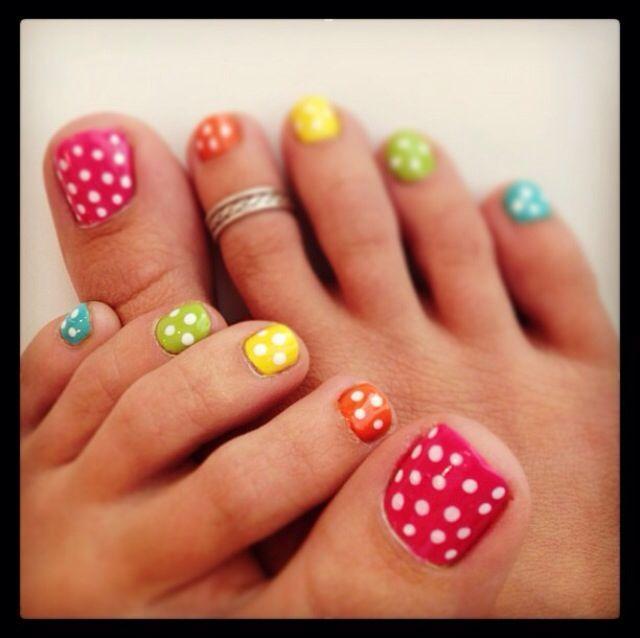 Cute Summer Toe Nails - Summer Wedding - Cute Summer Toe Nails #2029027 - Weddbook