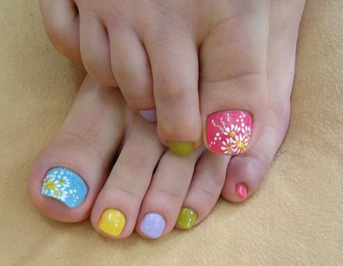 summer wedding  summer toe nail toenail art 2029028
