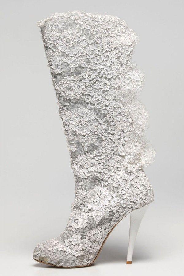 زفاف - Sacred Fairy Design Lace Boot