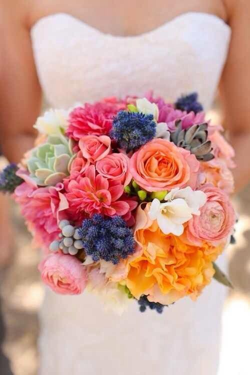 Mariage - Lovely Bright Summer Wedding Bouquet