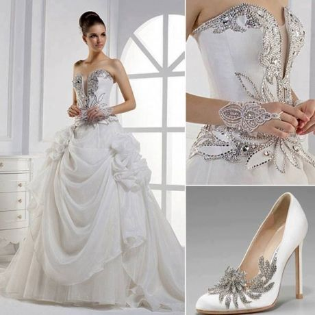 Wedding Dress With Silver Accents