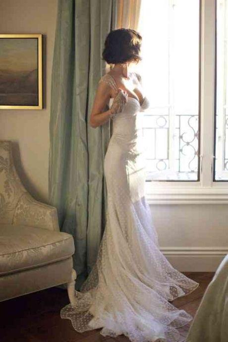 Wedding Dresses Polka Dots Wedding Dress 2029253 Weddbook
