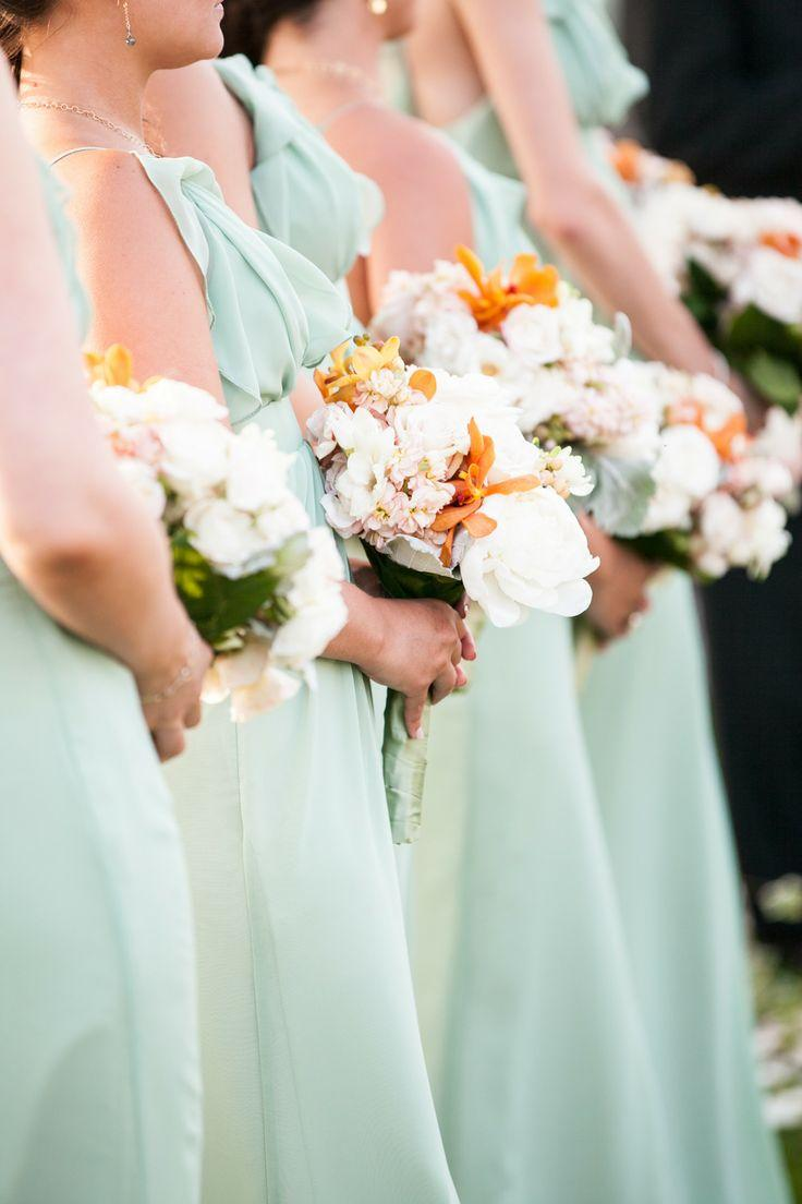 زفاف - Bridesmaids In Mint Dresses