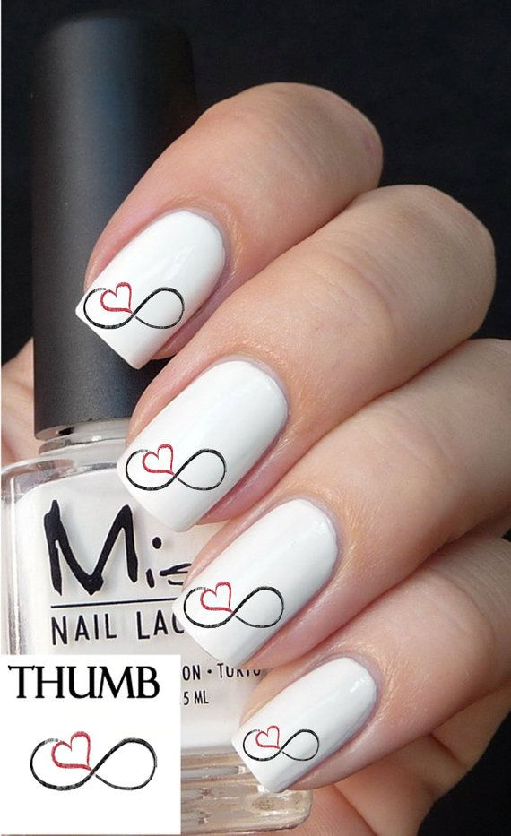 50pc Infinity Love Nail Decals Art Stickers Best Price On