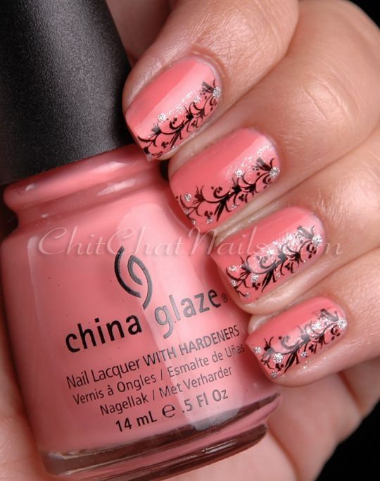 Coral Wedding Coral Nail Design 2029383 Weddbook