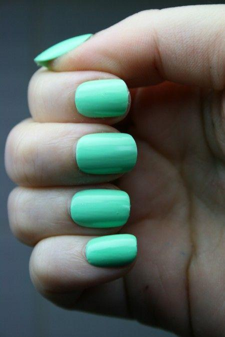 Свадьба - Bright Mint Nails.