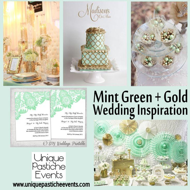 Свадьба - Mint Green   Gold  {Inspiration}