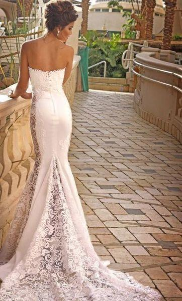 Wedding dresses gorgeous lace wedding dress 2029534 for Skin tight wedding dresses