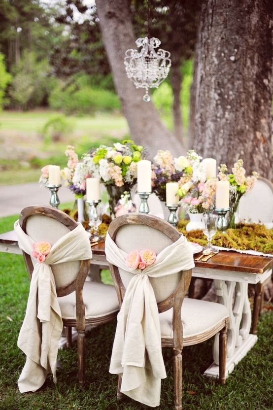 Country wedding wedding ideas 2029682 weddbook for Table and chair decorations for weddings
