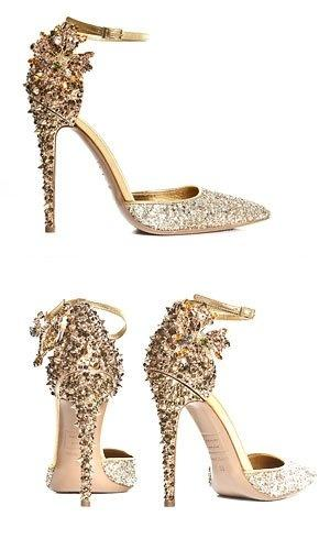 Hochzeit - Shining bridal shoes for wedding