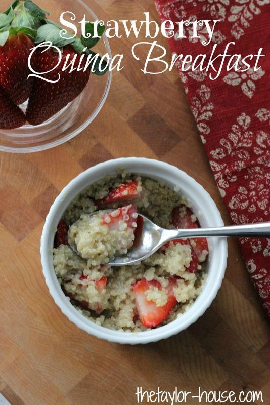 Mariage - Healthy Recipes: Strawberry Quinoa Breakfast