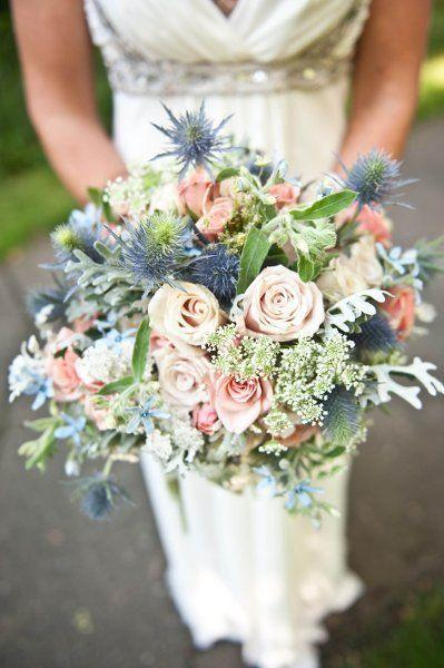 Dusty Blue Wedding Bouquets : Wedding nail designs love the dusty blue and shades of