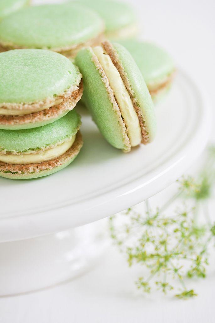 Свадьба - Довольно Зеленые Macarons
