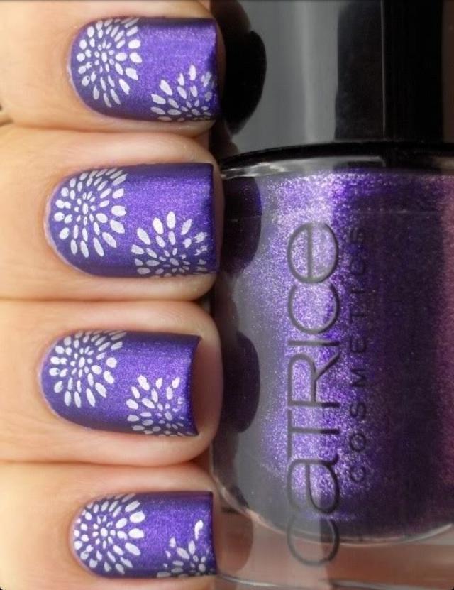 Свадьба - Фиолетовый цветок ногтей