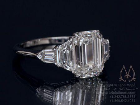 emerald cut engagement ring - Emerald Cut Wedding Ring