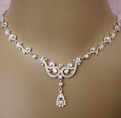 Wedding diamond diamond wedding necklace 2030233 weddbook diamond wedding necklace junglespirit Images