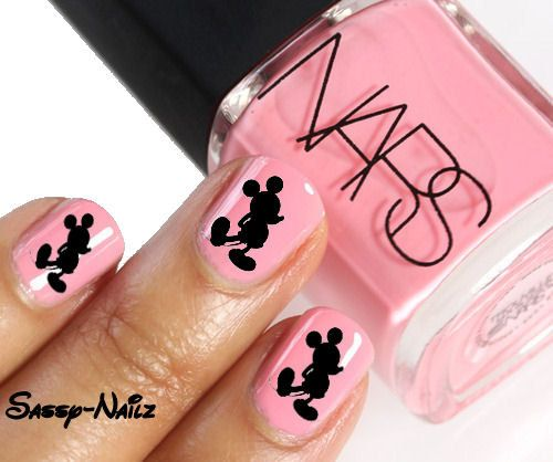 Mickey Mouse Nails: Mickey Mouse Nail Art Transfer Set Of 20 Disney #2030298