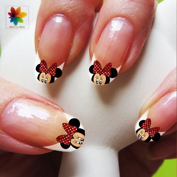 Nail Art, Cartoon, Mickey Mouse, 100 Waterslide Stickers Decal Nail ...