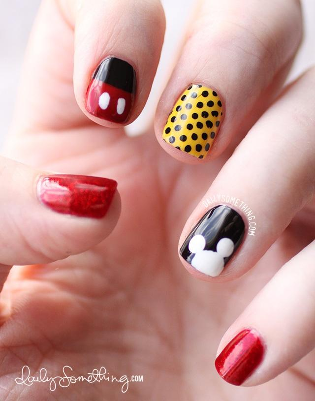 Mickey Inspired Nail Art - Wedding Nail Designs - Mickey Inspired Nail Art #2030303 - Weddbook