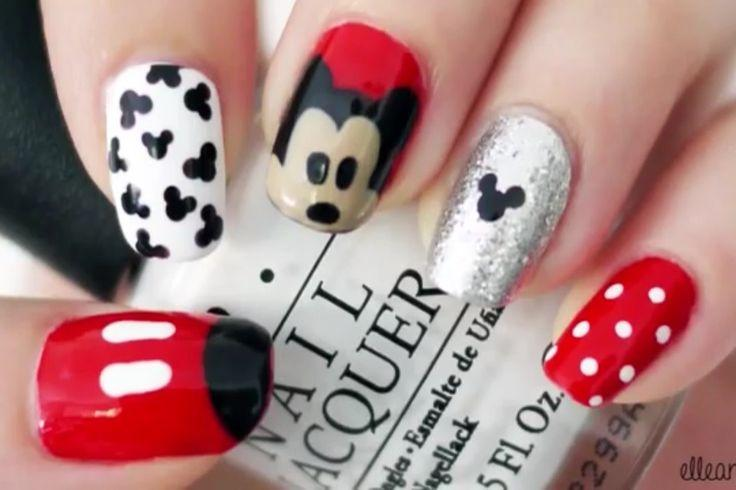 Mickey Mouse Nail Art - Wedding Nail Designs - Mickey Mouse Nail Art #2030307 - Weddbook
