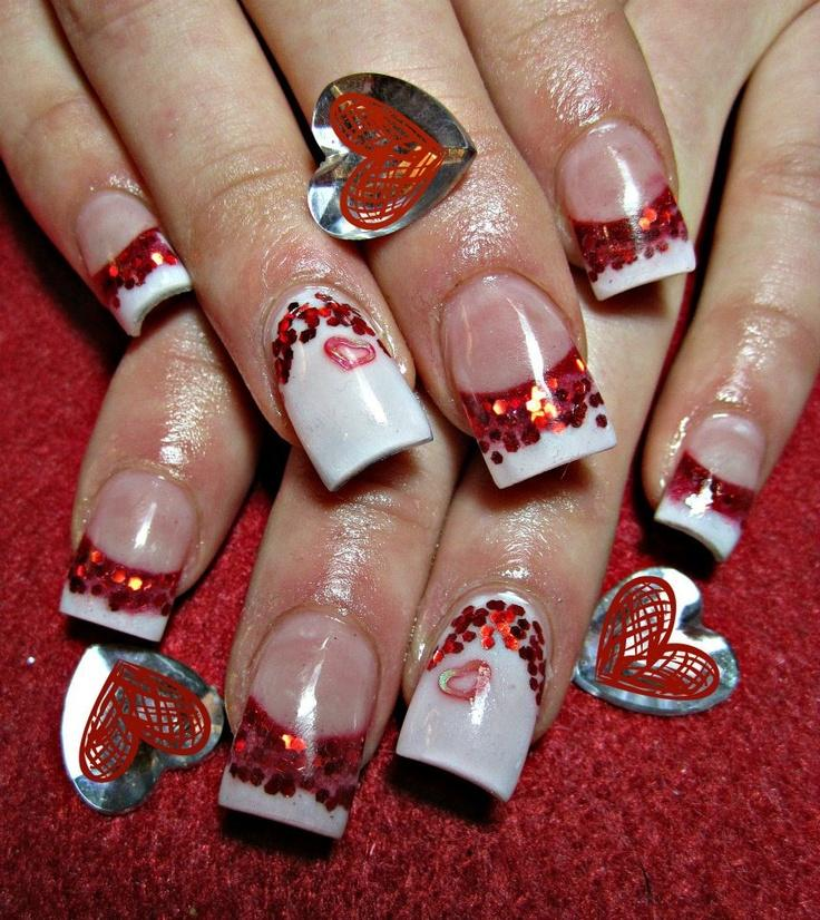 Wedding - Valentines Day Nail Design