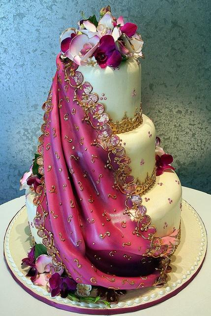 Wedding - Indian Sari Wedding Cake