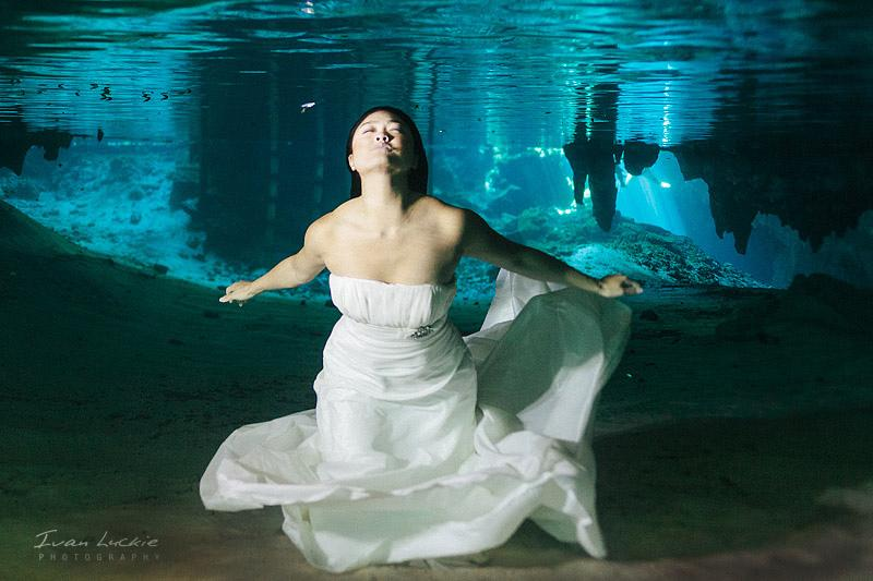 Wedding - Judy And Victor -  Underwater Trash The Dress Photographer - Ivan Luckie Photography-1
