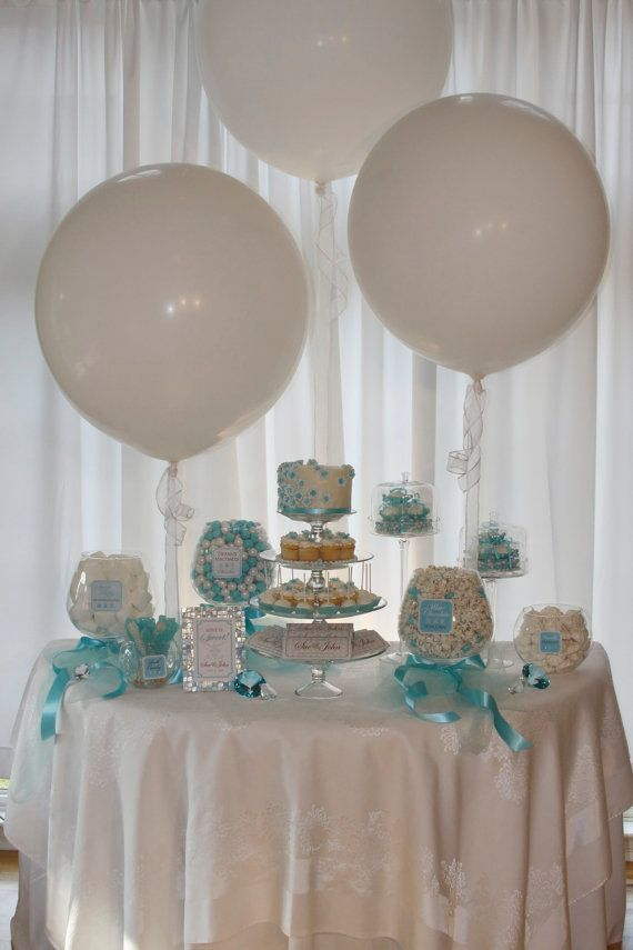 Elegant Tiffany Blue Candy Or Dessert Buffet Package Customized