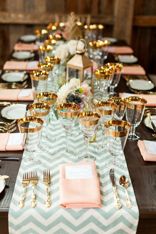 Mint Wedding Beautiful Table Setting 2030863 Weddbook