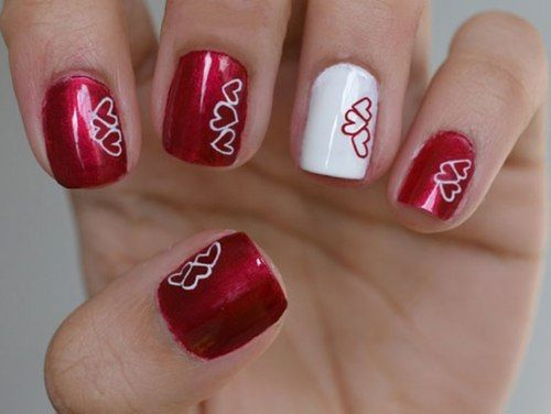 20 pretty nail designs for valentines day 2030925 weddbook 20 pretty nail designs for valentines day prinsesfo Choice Image