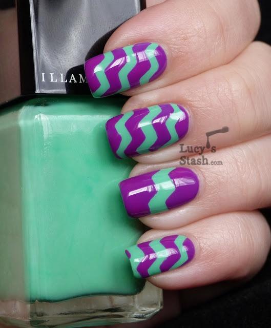 Patterns Using Tape Nail Art: Wedding Nail Designs